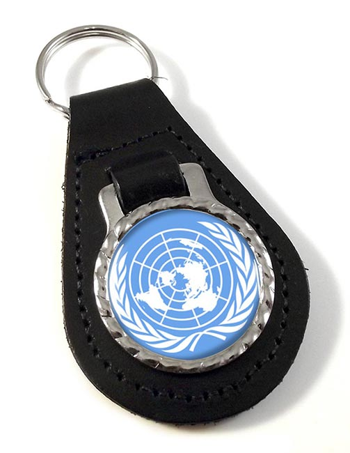 United Nations Leather Key Fob