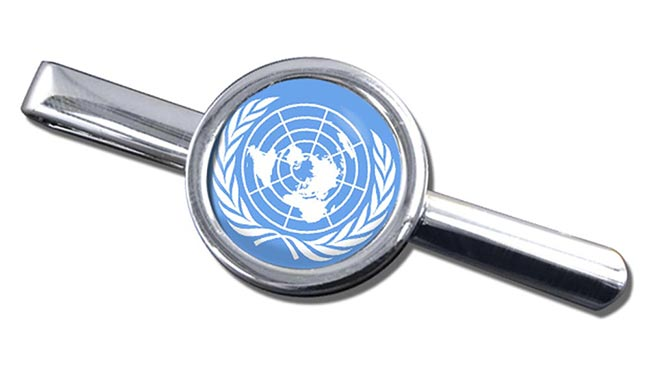 United Nations Round Tie Clip