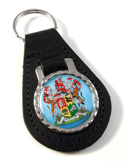 Union of South Africa Leather Key Fob