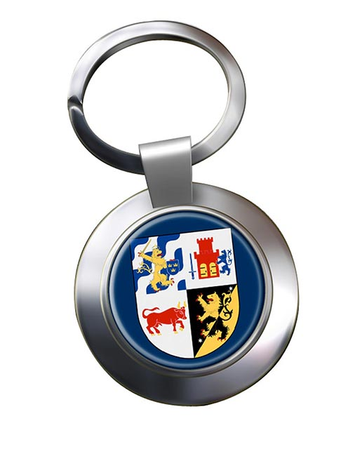 Vastra Gotaland (Sweden) Metal Key Ring