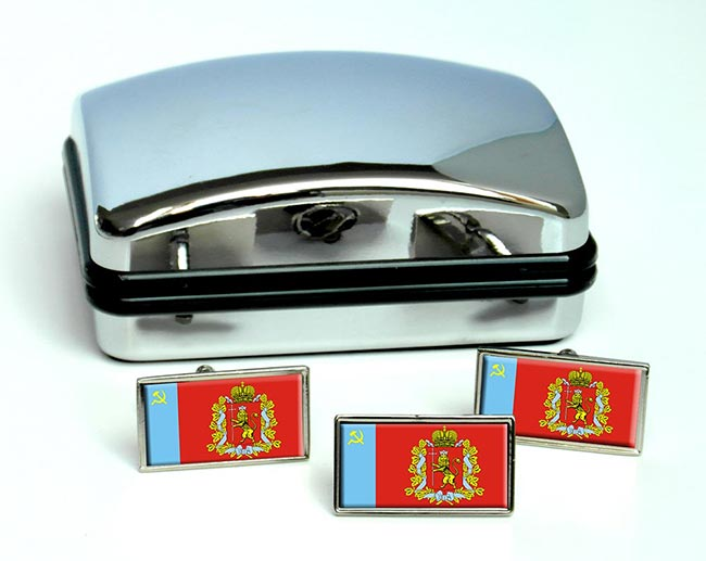 Vladimir Oblast Flag Cufflink and Tie Pin Set