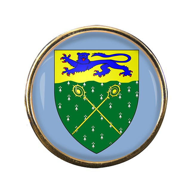 Wrexham Round Pin Badge