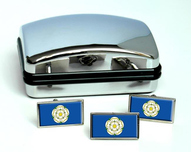 Yorkshire (England) Flag Cufflink and Tie Pin Set