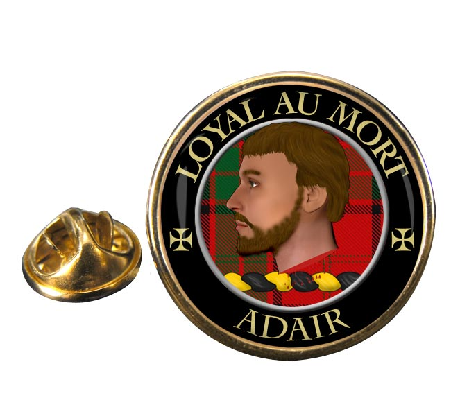 Adair Scottish Clan Round Pin Badge