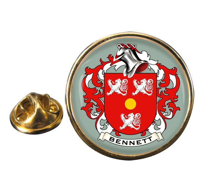Bennett Coat of Arms Round Pin Badge