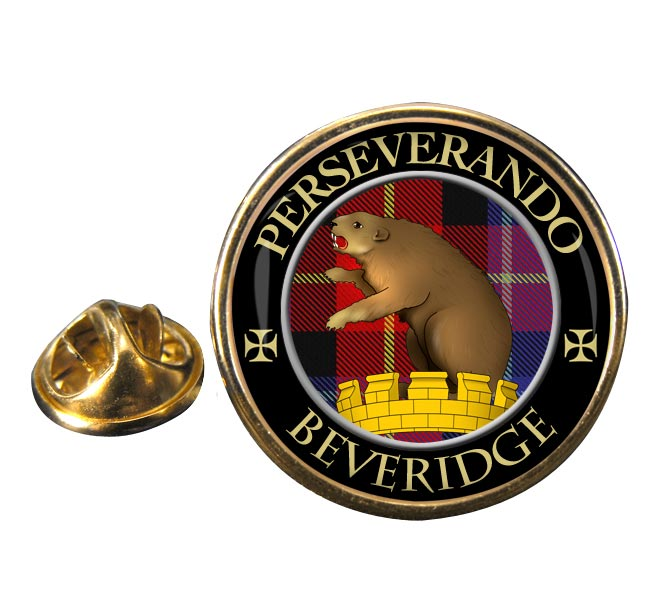 Beveridge Scottish Clan Round Pin Badge
