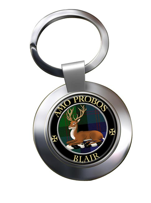 Blair Scottish Clan Chrome Key Ring