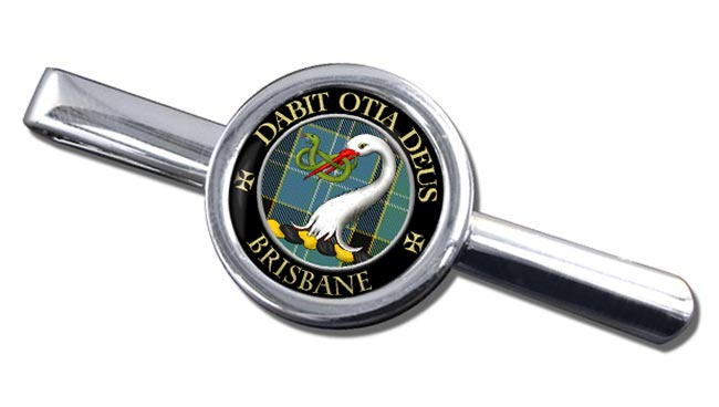 Brisbane Scottish Clan Round Tie Clip