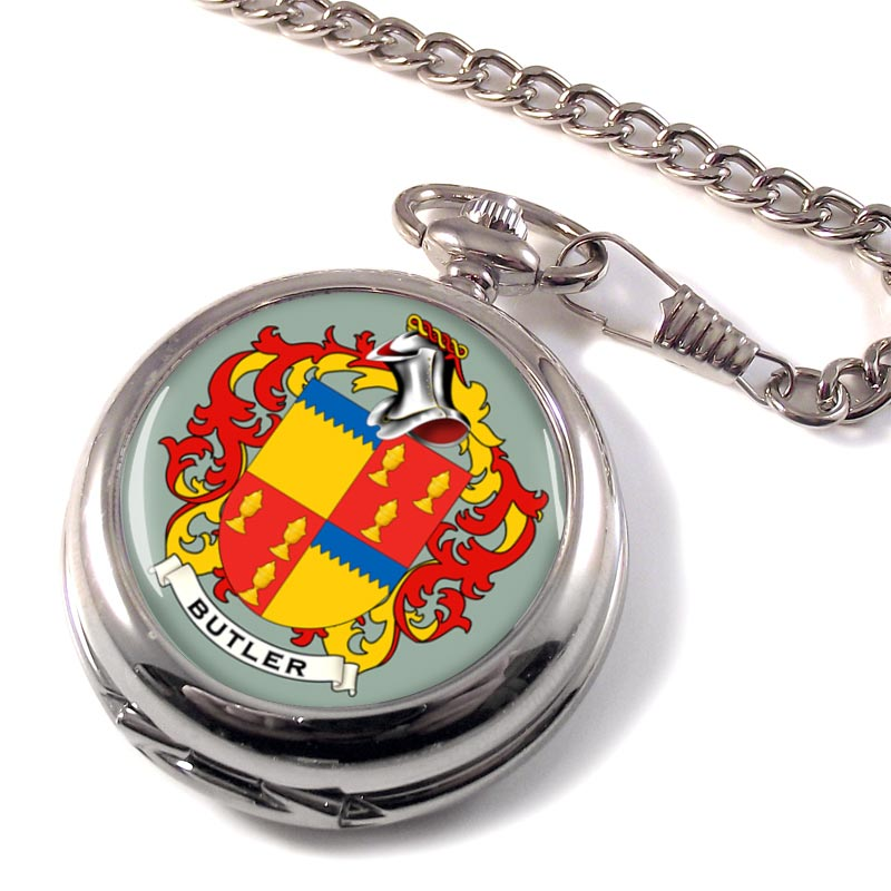 Butler Coat of Arms Pocket Watch