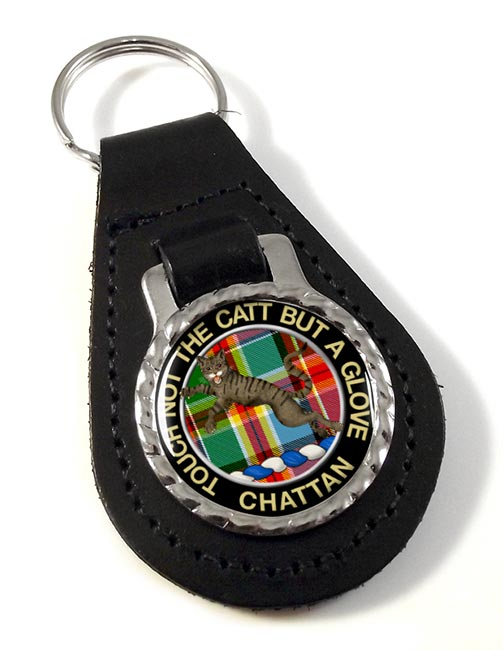 Chattan Scottish Clan Leather Key Fob