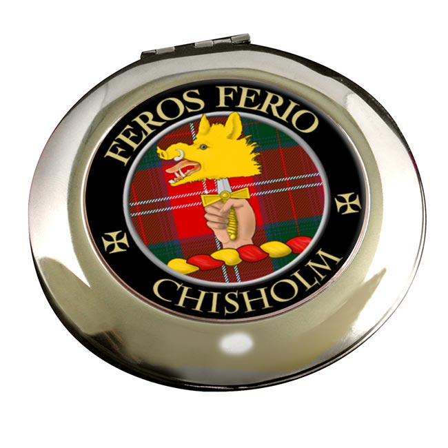Chisholm Scottish Clan Chrome Mirror