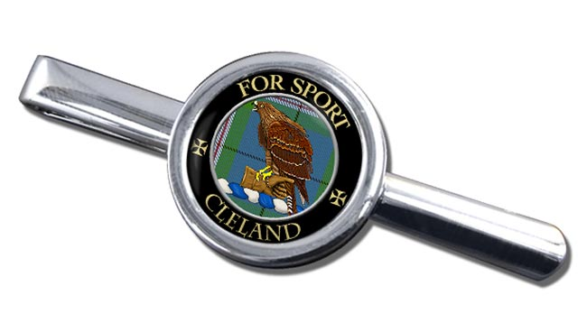 Cleland Scottish Clan Round Tie Clip