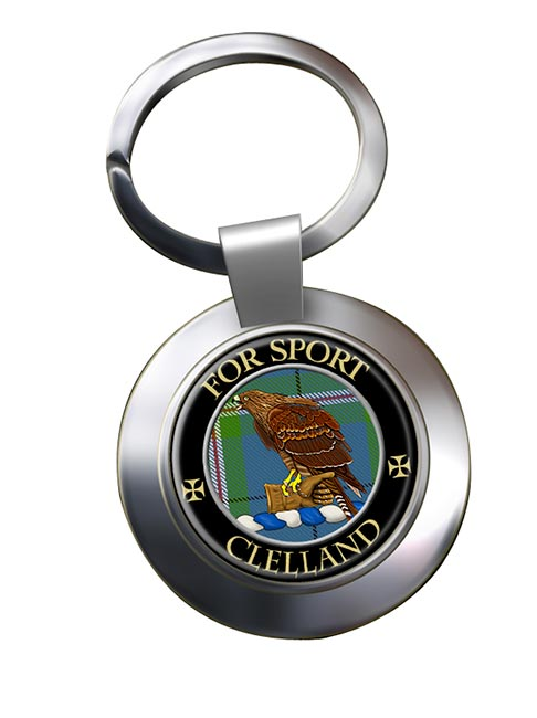 Clelland Scottish Clan Chrome Key Ring