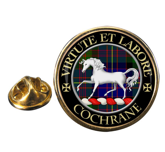 Cochrane Scottish Clan Round Pin Badge