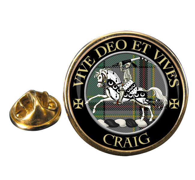 Craig Latin Scottish Clan Round Pin Badge