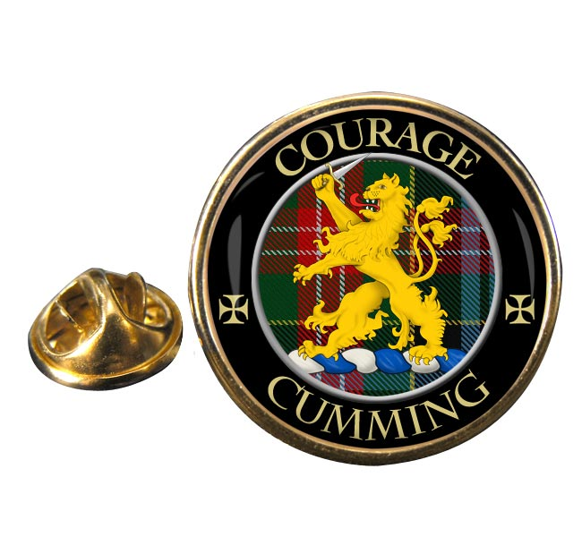 Cumming Scottish Clan Round Pin Badge