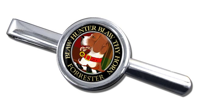 Forrester Scottish Clan Round Tie Clip