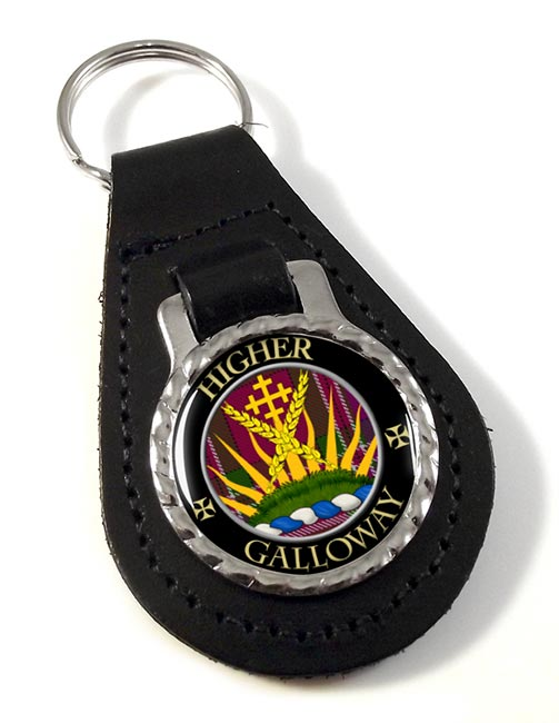 Galloway Scottish Clan Leather Key Fob