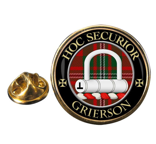 Grierson Scottish Clan Round Pin Badge