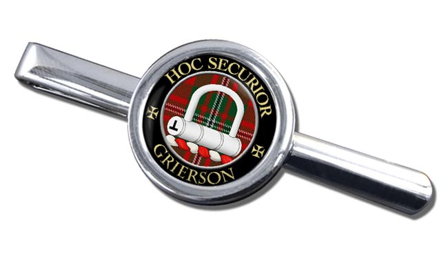 Grierson Scottish Clan Round Tie Clip