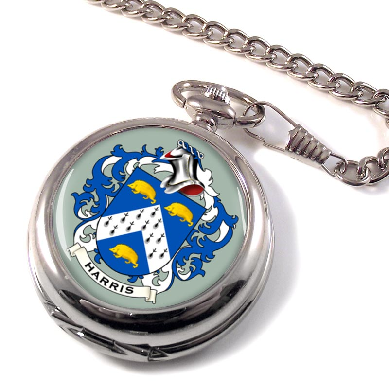 Harris Coat of Arms Pocket Watch