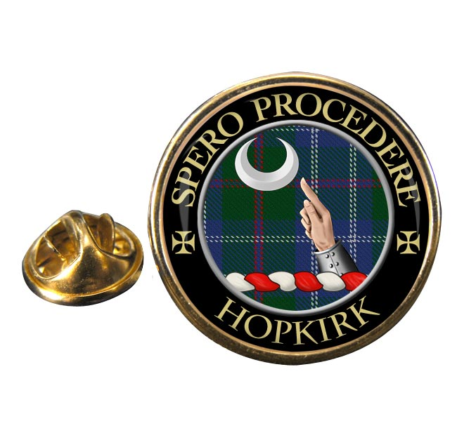 Hopkirk Scottish Clan Round Pin Badge