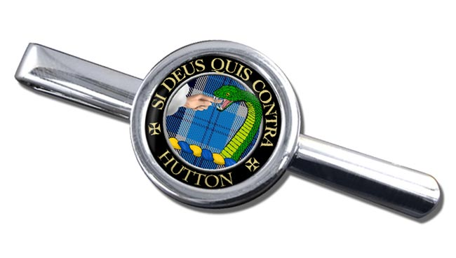 Hutton Scottish Clan Round Tie Clip