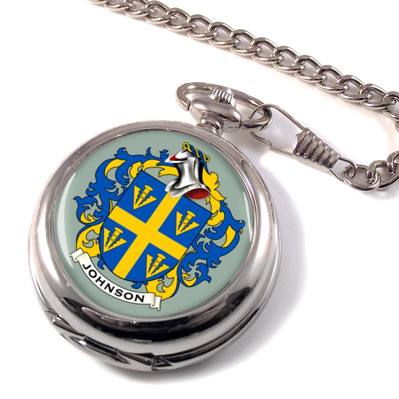 Johnson Coat of Arms Pocket Watch