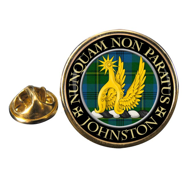 Johnston Scottish Clan Round Pin Badge