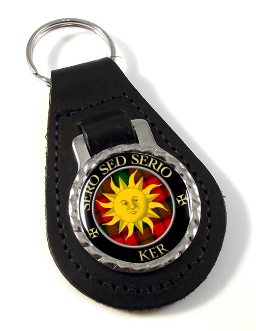Ker Scottish Clan Leather Key Fob