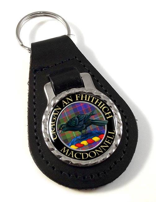 Macdonnell Scottish Clan Leather Key Fob