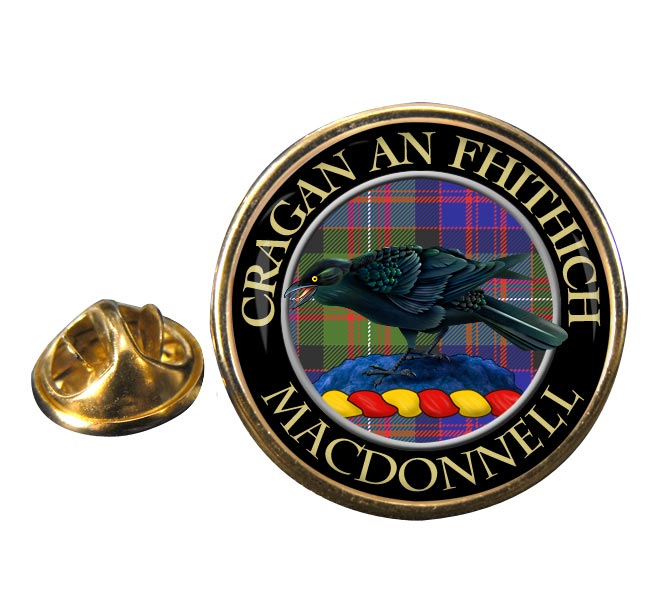Macdonnell Scottish Clan Round Pin Badge