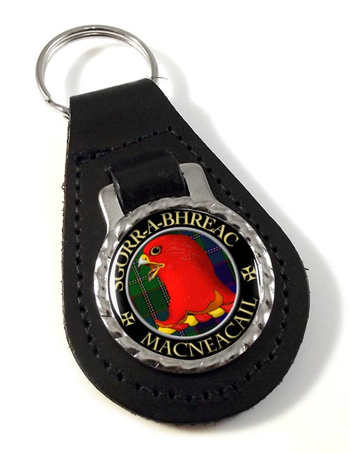 MacNeacail Scottish Clan Leather Key Fob