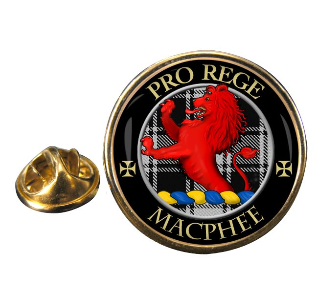 Macphee ancient Scottish Clan Round Pin Badge