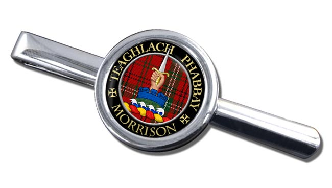 Morrison Scottish Clan Round Tie Clip