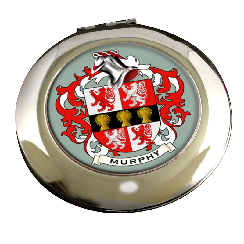 Murphy Coat of Arms Chrome Mirror