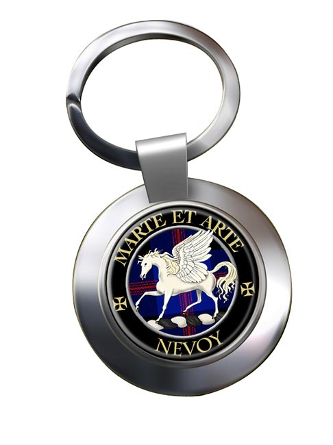 Nevoy Scottish Clan Chrome Key Ring