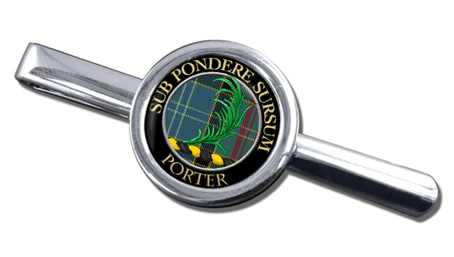 Porter Scottish Clan Round Tie Clip