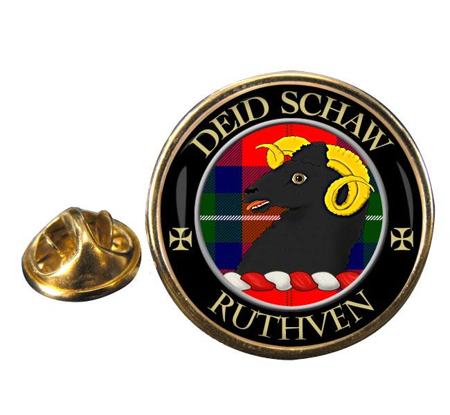 Ruthven Scottish Clan Round Pin Badge