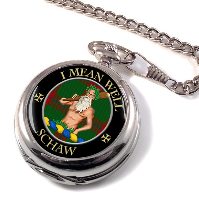 Schaw Scottish Clan Pocket Watch