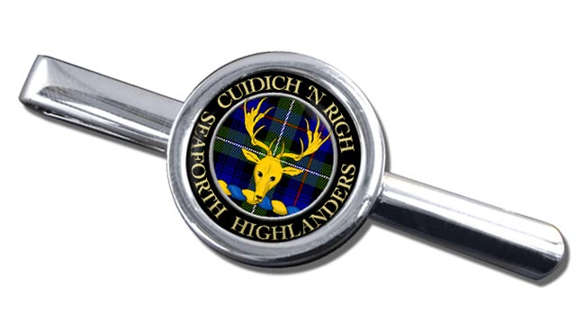 Seaforth Highlanders Scottish Clan Round Tie Clip