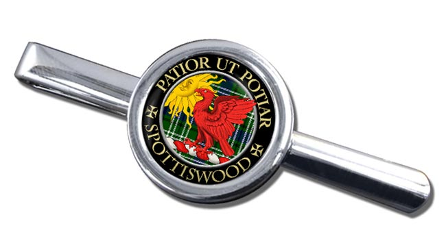 Spottiswood Scottish Clan Round Tie Clip