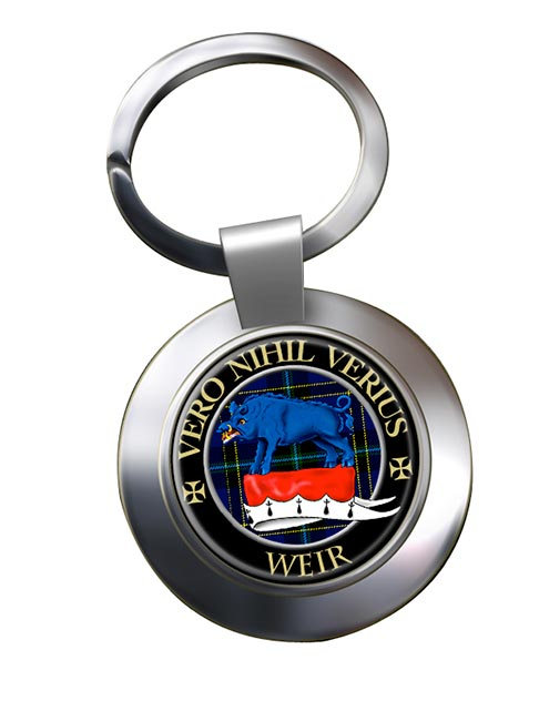 Weir Scottish Clan Chrome Key Ring