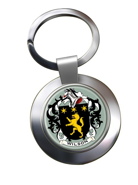Wilson Coat of Arms Chrome Key Ring