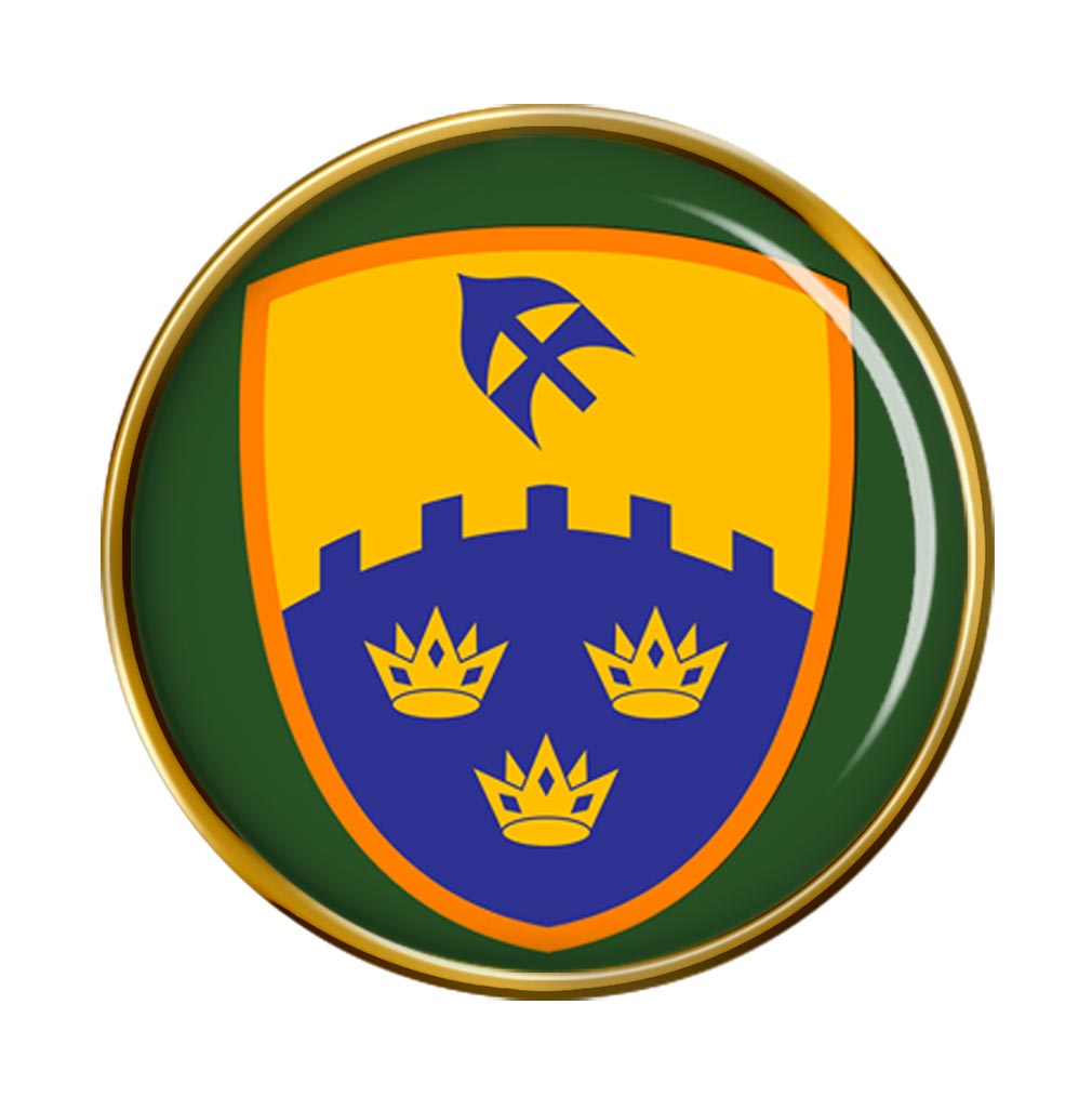 1st (Southern) Brigade (Ireland) Round Pin Badge