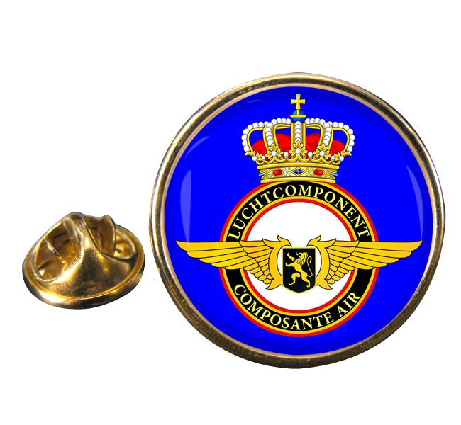Belgian Air Force Round Pin Badge