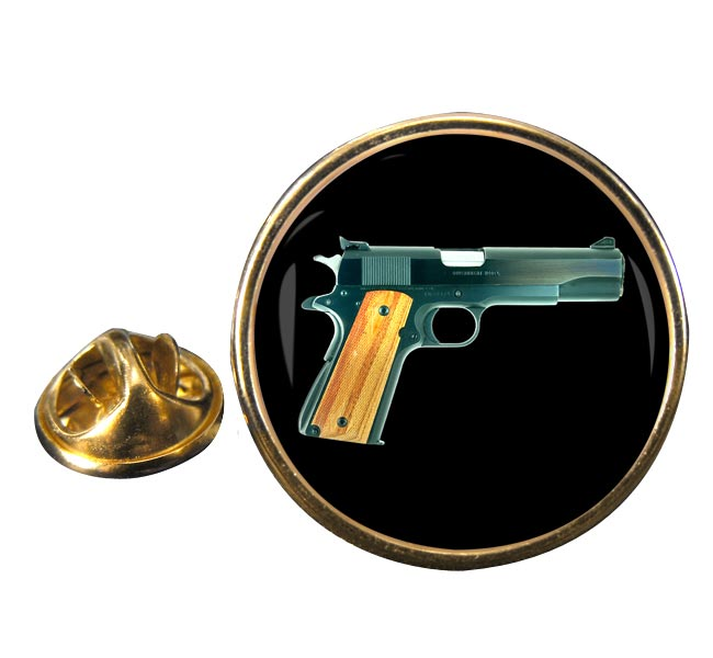 Colt M1911 Pistol Round Pin Badge