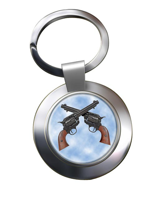 Colt 45 Peacemaker Chrome Key Ring