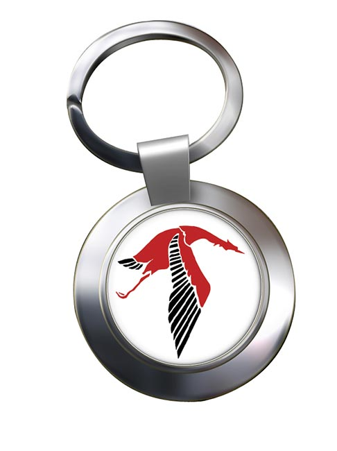 Escadrille 3 Cigogne de Georges Guynemer Chrome Key Ring