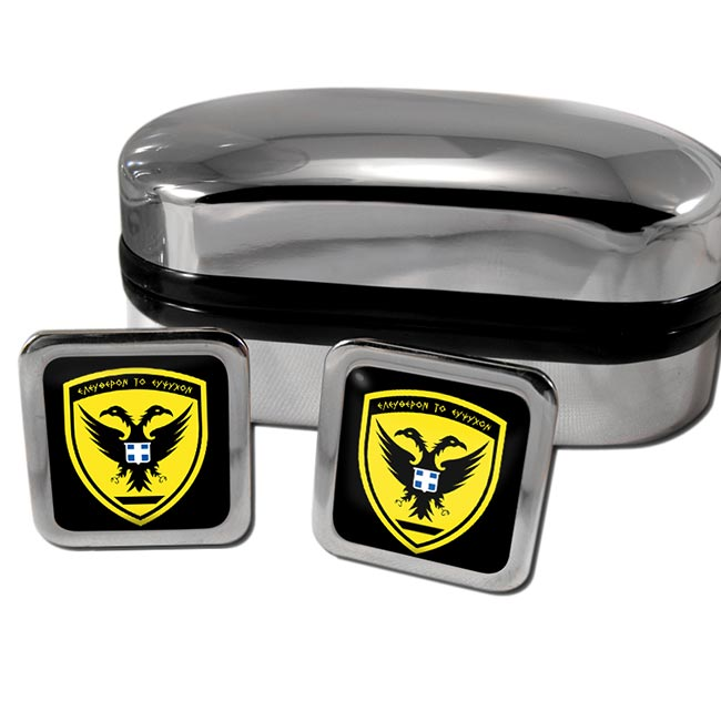 Hellenic Army (Greece) Square Cufflinks